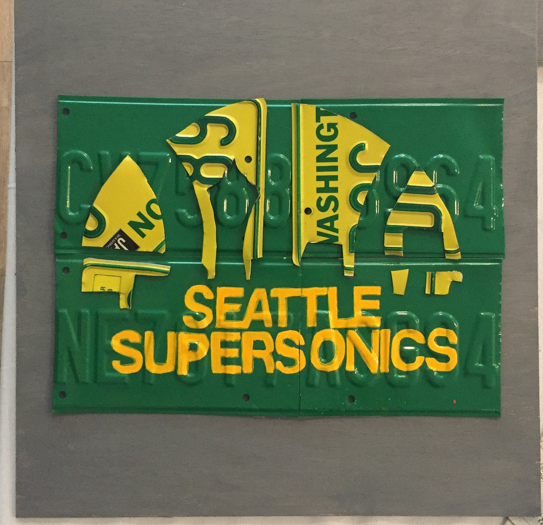 Seattle Supersonics Wall Art License Plate Man Cave | Etsy