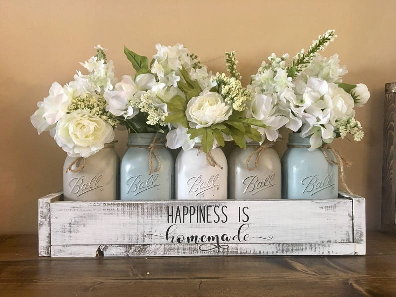 Mason Jar Centerpiece Farmhouse Decor Mason Jar Farmhouse Etsy