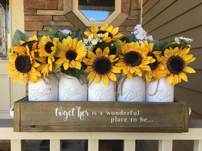 Sunflower decor sunflower decorations sunflower centerpiece image 1