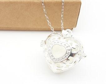 DIY Breastmilk Jewelry Keepsake Kit - Milk Bead with Heart Shape Locket and Necklace Set - BM034