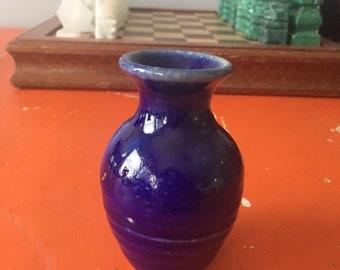 Vintage Blue Bud Vase