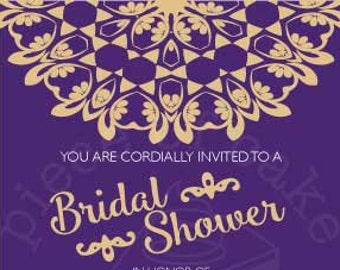 Elegant Lace Bridal Shower Invitation PDF - Custom