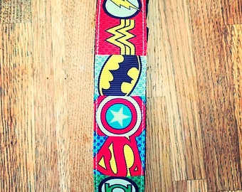 Avengers themed unique dog collar for your super hero woofit