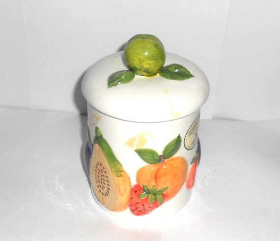 Vintage Porcelain Quality Rayware Hand Painted Storage Jar Etsy