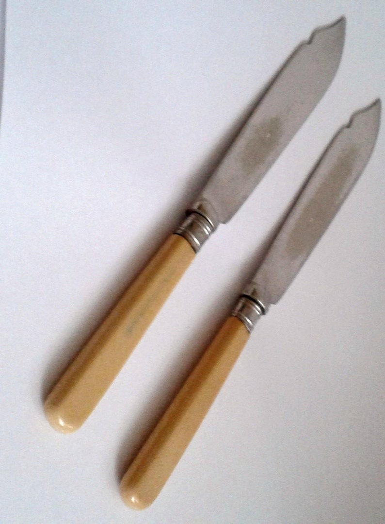 England Antique Pair Of Fish Knives-EPNS Sheffield