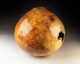 Spalted Sycamore Burr Vase 14x14inch