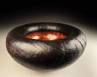 Burr Elm Bowl Burnt 15x7inch