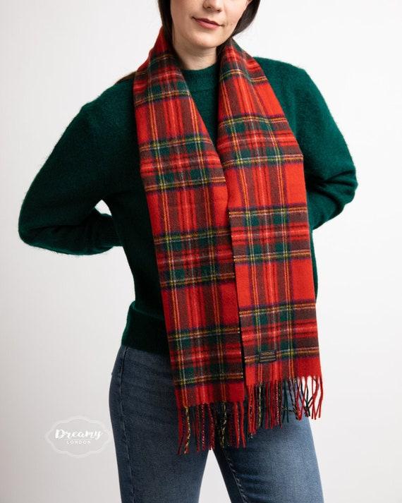 Unisex 100/% Pure New Wool Lambswool Tartan Scarves UK Made Mens Ladies British
