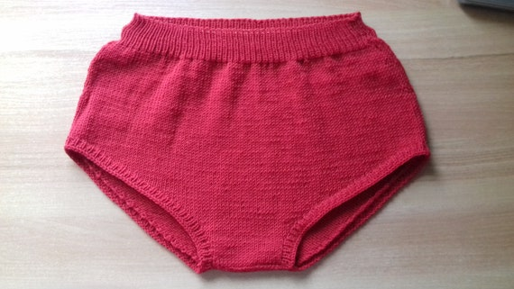 b189acb393b Hand Knit Handmade Underwear/High Waisted Panties/Shorts Soft Warm Custom  Color Women's Soft Pure Wool Panties, Custom Colors!