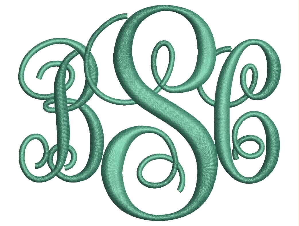 interlocking monogram embroidery font 4 sizes machine bx embroidery fonts embroidery monogram fonts 3 letter monogram instant download