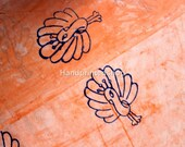 Yards Block Printed Indian Cotton Fabric Mud Resist Dabu Print Indian Fabric, Wooden Stamped Hand Printed Handmade Soft Fabric HPS 481
