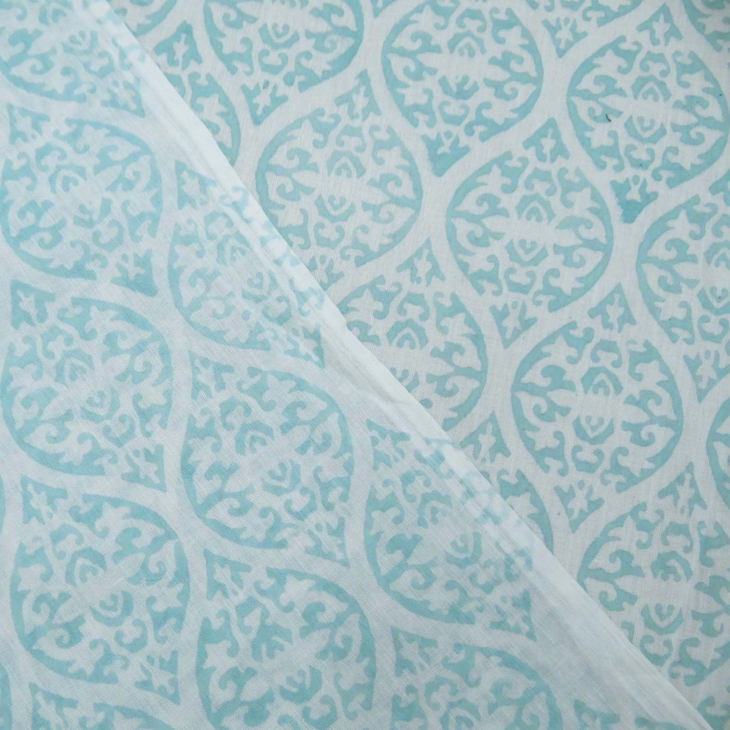 Poster Weights Etsy: 10 Yard Hand Block Print 100% Pure Cotton Fabric Light