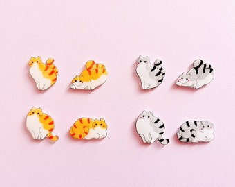 Cat earrings, Cat jewellery, Cat lovers, Crazy cat lady, Cat lover gifts, Christmas stocking filler, Handmade Jewellery