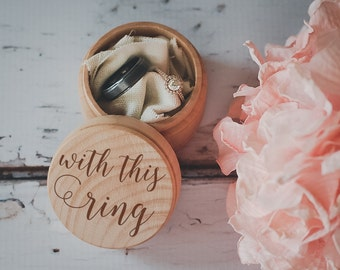 With This Ring Box, Engraved Wedding Ring Box, Wooden Ring Box, Wedding Gift, Ring Bearer Box, Engraved Wooden Box, Bridal Shower Gift,