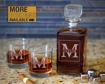 Personalized Decanter, Glass Decanter, Whiskey Decanter, Wine Decanter, Bourbon Decanter, Scotch Decanter, Classic Decanter, Etched Decanter
