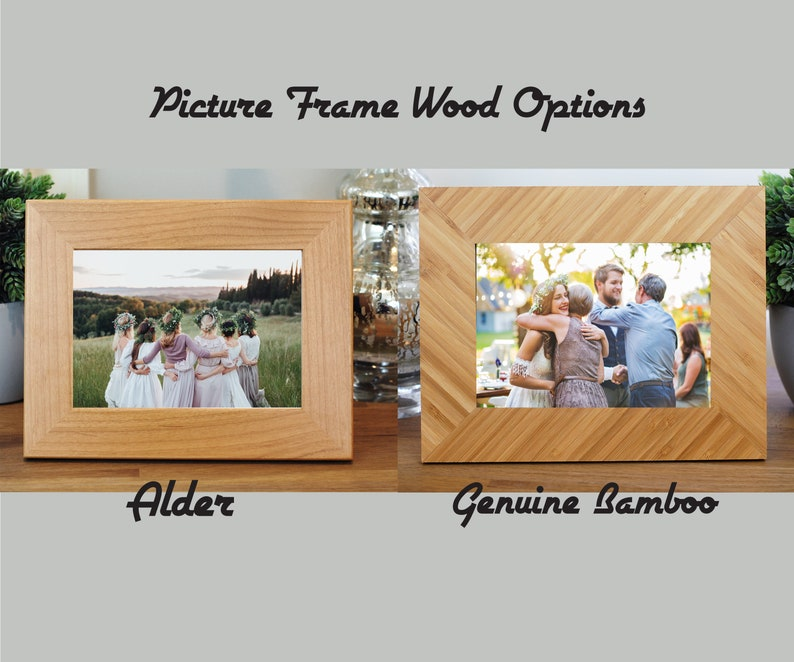 Custom Engraved Photo Frame Flower Girl Mother of The Groom Personalized Picture Frame Wedding Bridesmaid Picture Frame Maid Of Honor
