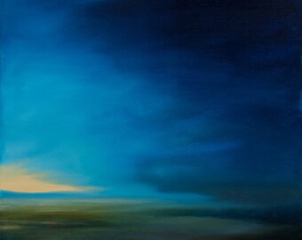 Landscape original oil painting on stretched canvas contemporary modern