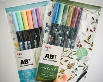 Tombow Brush Pens   Japanese Tombow Calligraphy Brush Pens   Blendable Water-Based Dual Brush Pens
