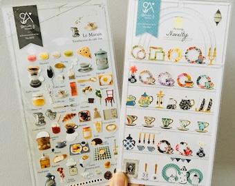 Sonia Suatelier Stickers   Novelty   Le Marais   Tea Coffee Lover Stickers   Cute Whimsical Pretty Unique Korean Stickers