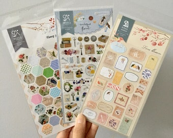 Sonia Suatelier Stickers   Love blossom   antique floral   Honey garden   Cute Quirky Rustic Vintage Unique Whimsical Korean Stickers