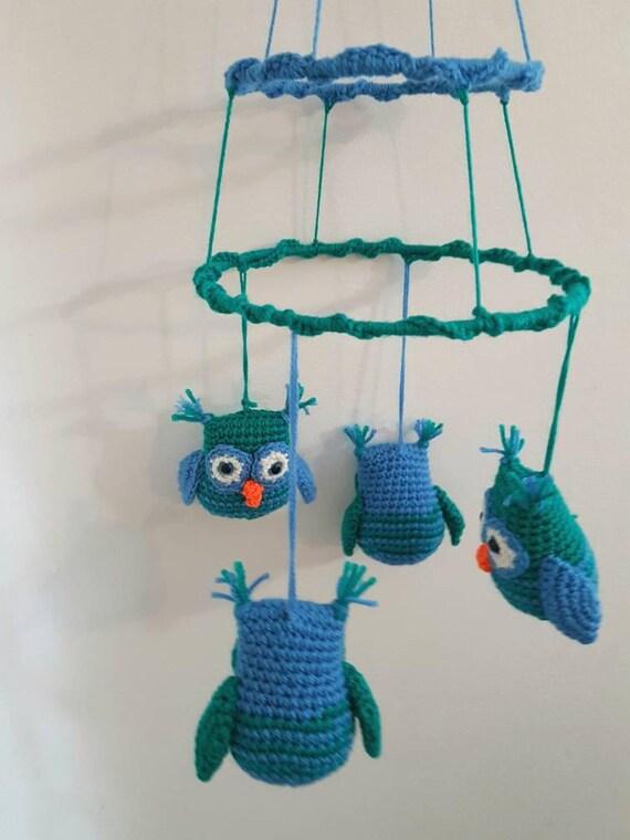 Green/Blue Owl Mobile