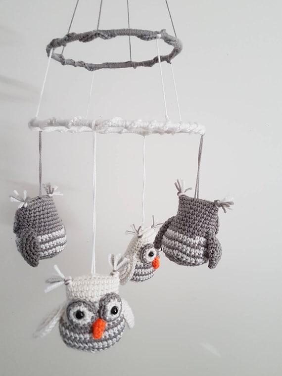 White/Grey Owl Mobile