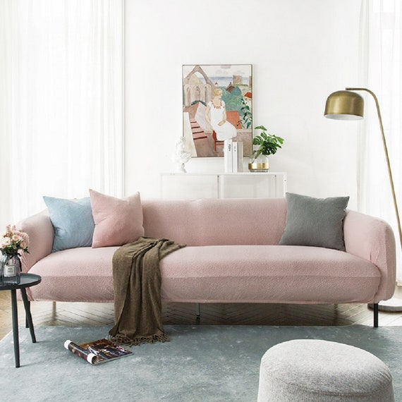 Astonishing Pink Sofa Covers Jacquard Spandex Fabric Stretch Slipcover Sofa Furniture Protector Sofa Throw Couch Cover Custom Slipcover Ncnpc Chair Design For Home Ncnpcorg