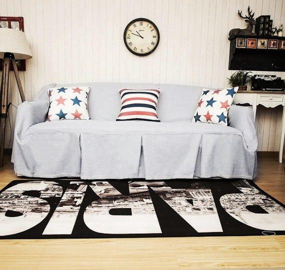 Light Grey Sofa Slipcover: Light Grey Sofa Cover Couch Cover For Dogs Sofa Throw