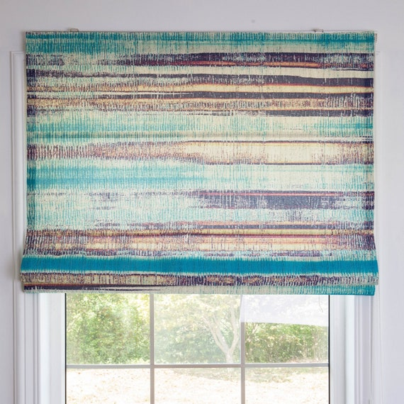 Spring Mountain Green Custom Roman Shade Diy Roman Shade Kit Removable Washable Blinds Kitchen Or Bedroom Window Curtain Fabric Blinds