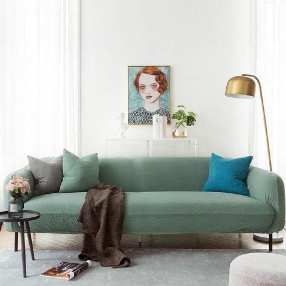 Surprising Light Green Sofa Covers Jacquard Spandex Fabric Stretch Slipcover Sofa Furniture Protector Sofa Throw Couch Cover Custom Sofa Slipcover Machost Co Dining Chair Design Ideas Machostcouk
