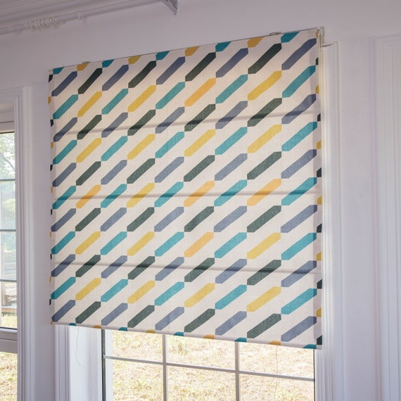 The Rain Custom Diy Roman Shade Kit Kitchen Window Curtain Bathroom French Door Roman Blinds Flat Fold Modern Colorful Fabric Blinds