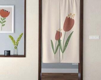 Flower , panel curtain, nursery curtain, curtain panels, rod curtain, blackout, linen curtain, window curtain