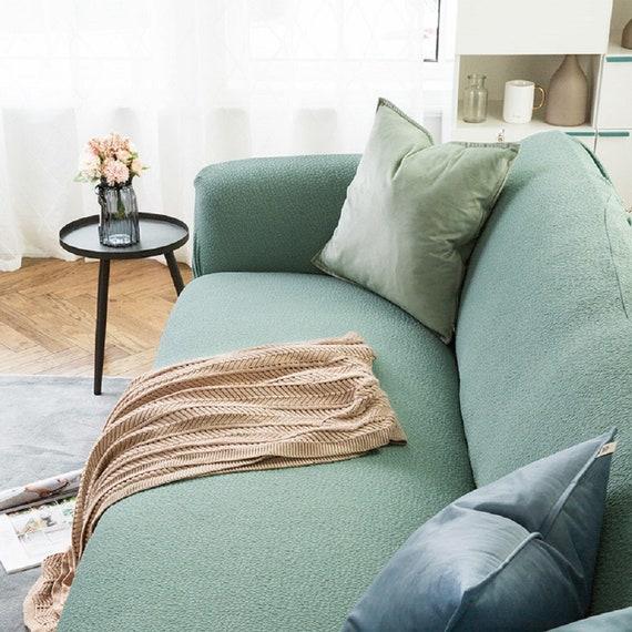Superb Light Green Sofa Covers Jacquard Spandex Fabric Stretch Slipcover Sofa Furniture Protector Sofa Throw Couch Cover Custom Sofa Slipcover Machost Co Dining Chair Design Ideas Machostcouk