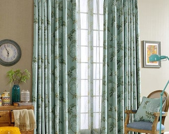Custom Curtains Garden curtain fabric full shading ,Bedroom & Living Room Curtains Drapery Panels