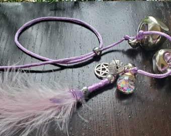 Feather Protection Bells - Door Protection Bells - Wall Hanging - Crystal