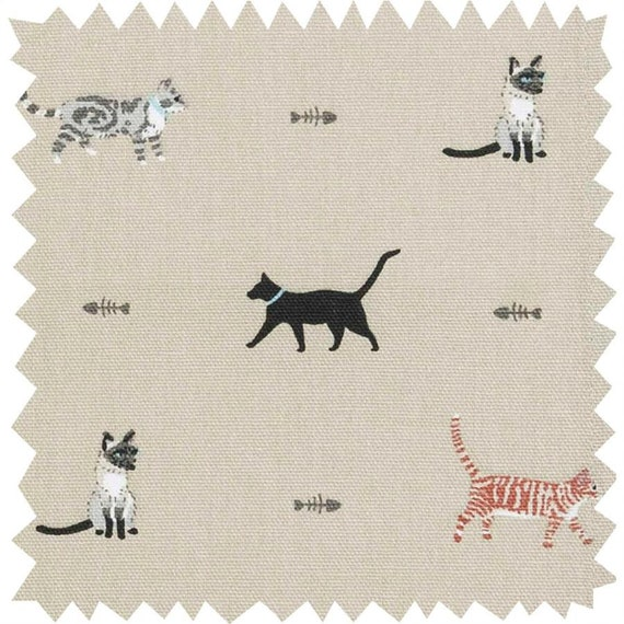 Sophie Allport Purrfect Fabric Cushion DOUBLE SIDED