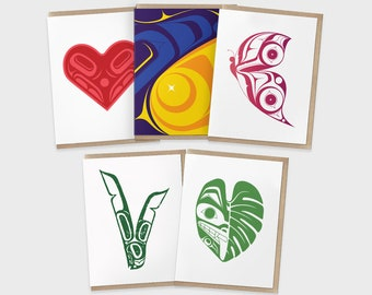 Illustrated Card Set   Thank You Cards   Birthday Cards   Blank Anniversary Cards   Graduation Cards   Wedding Cards by Indigenous Artist