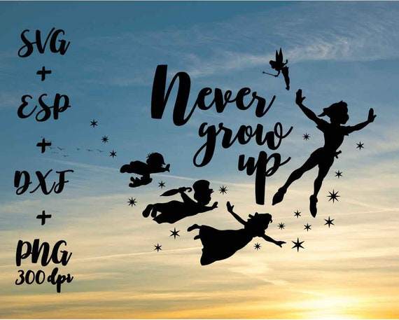Peter Pan Never Grow Up Disney Funny Quote Png High Resolution Etsy