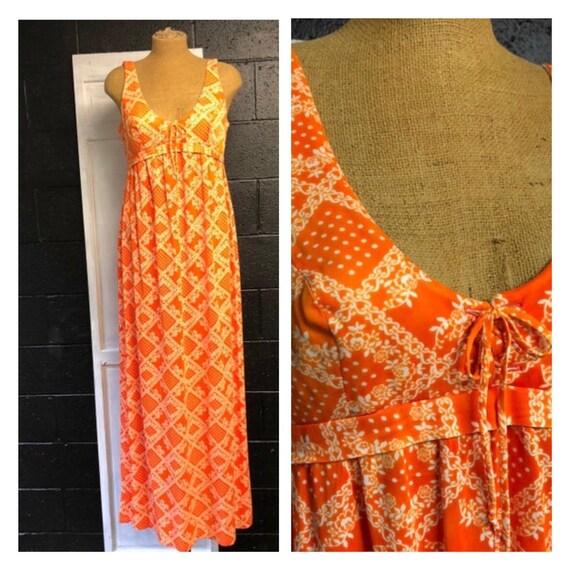 Maxi Dress with Bikini Top by Tall Girl 1970s