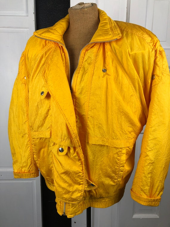 Vintage Puffer Coat Sunshine Yellow 1980s Andy Joh