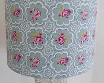 Green Rose Fabric Handmade Lamp Shade