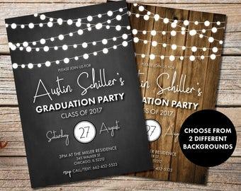 Rustic Graduation Party Invitation