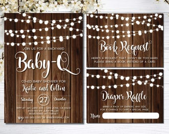 couples baby shower invitation winter baby shower invitation etsy