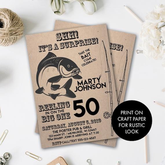 Geburtstags Einladung Angeln Fischer Geburtstags Einladung Etsy