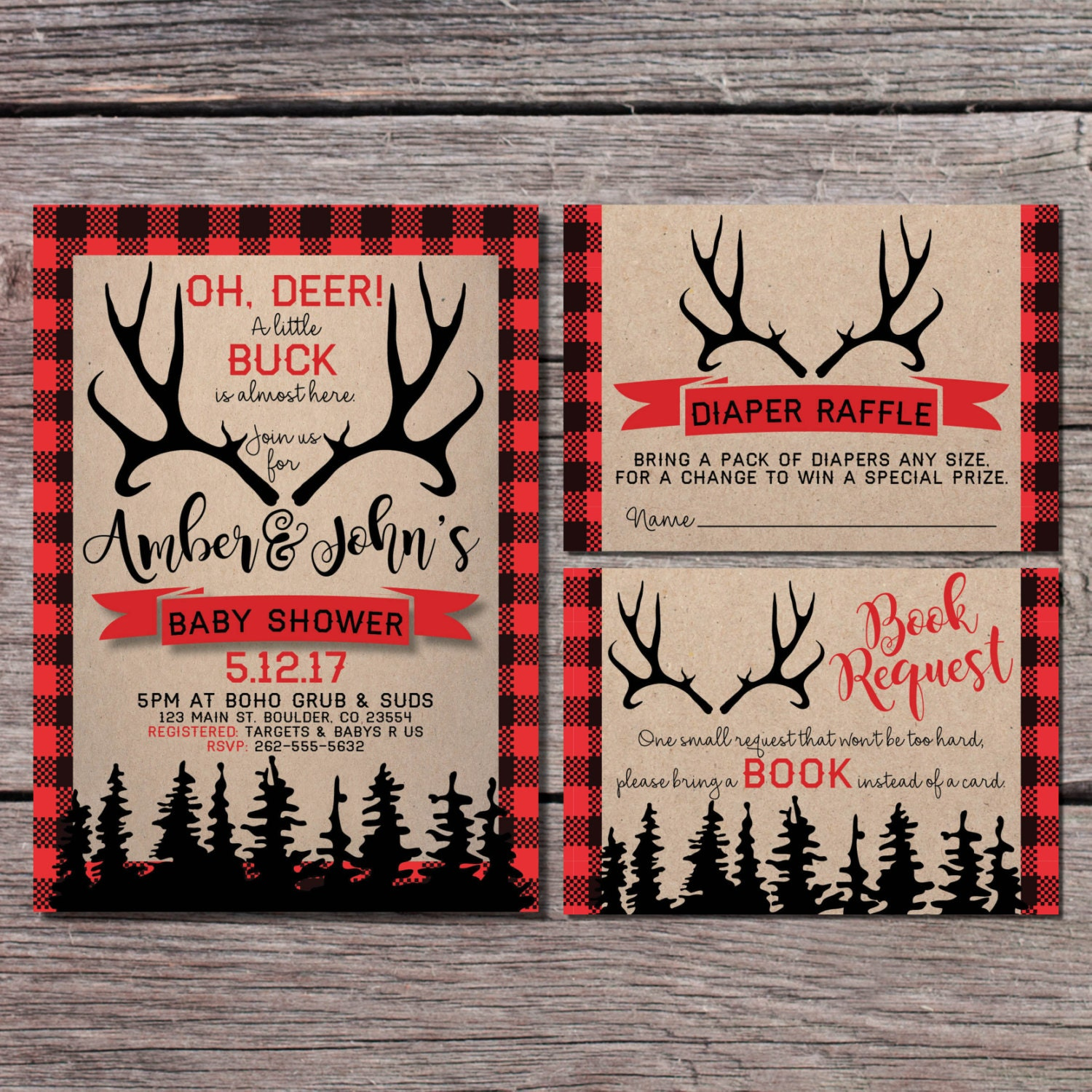 Nice Hunting Baby Shower Invitations Gallery - Invitations and ...