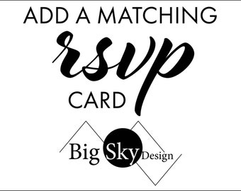 "Add a RSVP card to any invite  (single sided 5"" x 3.5"")"