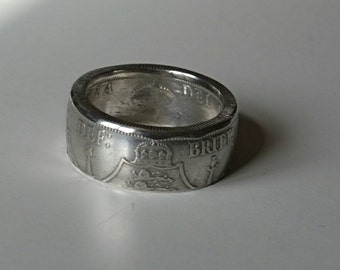 Sterling Silver Florin Coin Ring