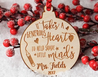 Teacher Ornament - Teacher Christmas Gifts - Teacher Gifts - Teacher - Personalized Teacher Gift - Teacher Gifts Personalized - Appreciation
