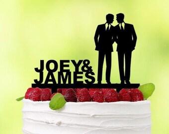 6c3e10f0c2a Gay Cake Topper - Gay Wedding - Gay Pride - Mr Mr Cake Topper -  Personalized Mr Mr - Silhoutte Cake Topper - Personalized Mr Mr -  EW002