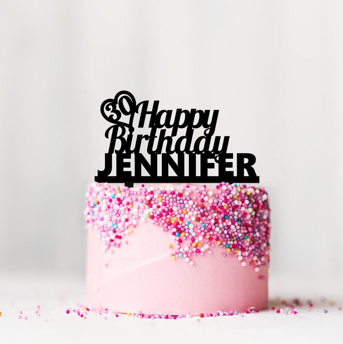 Geburtstag kuchen topper personalisierte cake topper etsy for Kuchen sofort lieferbar